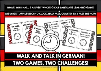GERMAN TELLING TIME I HAVE, WHO HAS #1