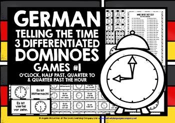 GERMAN TELLING TIME DOMINOES #1