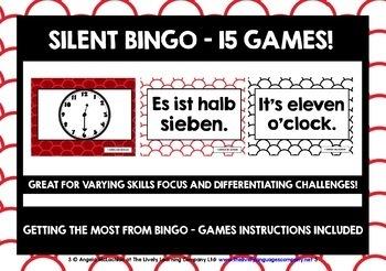 GERMAN TELLING TIME BINGO 1