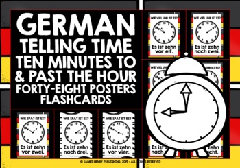 GERMAN TELLING TIME POSTERS FLASHCARDS #4