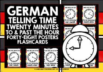 GERMAN TELLING TIME POSTERS FLASHCARDS #5