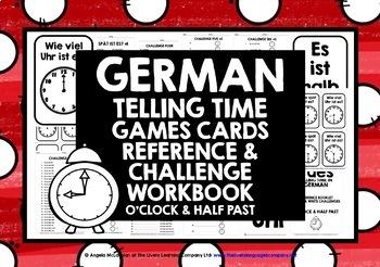 ELEMENTARY GERMAN TIME O'CLOCK & HALF PAST