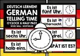 GERMAN WORD WALL TIME O'CLOCK & HALF PAST
