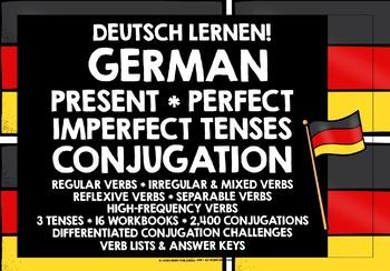 GERMAN VERBS CONJUGATION WORKBOOKS #1