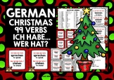 GERMAN VERBS (1) - CHRISTMAS I HAVE, WHO HAS? 2 GAMES & CH