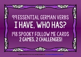 GERMAN VERBS HALLOWEEN I HAVE, WHO HAS? 2 GAMES & CHALLENG