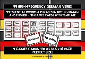 GERMAN VERBS PRACTICE & REVISION 99 VERBS (2)