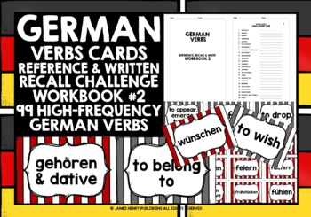 GERMAN VERBS CARDS & WORKBOOK #2