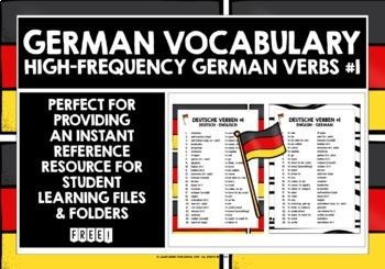 GERMAN VERBS 25 MUST-HAVE VERBS REFERENCE LIST #1