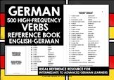 GERMAN VERBS REFERENCE ENGLISH-GERMAN 500 VERBS
