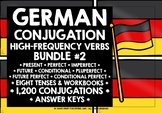 GERMAN HIGH-FREQUENCY VERBS CONJUGATION BUNDLE #2 DISTANCE LEARNING