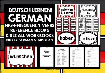 GERMAN VERBS CARDS & 2 WORKBOOKS