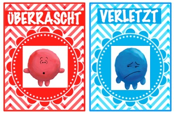 GERMAN VERSION - EMOTION POSTERS WITH PICTURES AND DESCRIPTION