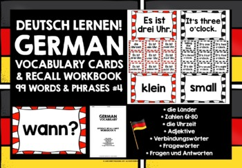 GERMAN VOCABULARY (4) - GAMES & ACTIVITIES - 99 WORDS / PHRASES