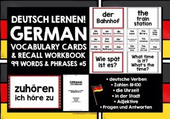 GERMAN VOCABULARY CARDS & WORKBOOK 5