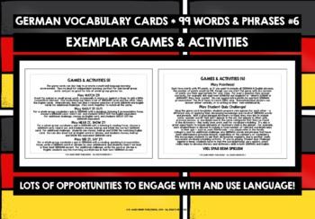 GERMAN VOCABULARY CARDS & WORKBOOK 6