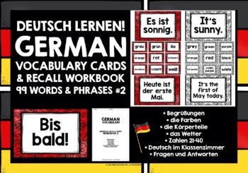 GERMAN VOCABULARY (2) PRACTICE & REVISION - 99 WORDS & PHRASES