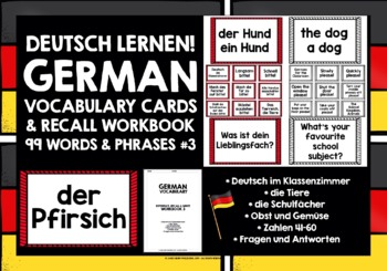 GERMAN BEGINNERS VOCABULARY 3