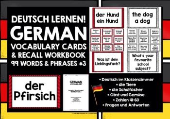 GERMAN VOCABULARY (3) - GAMES & ACTIVITIES - 99 WORDS / PHRASES