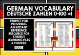 GERMAN NUMBERS 0-100 REFERENCE LIST
