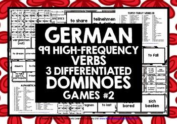 GERMAN VERBS (2) - 3 DOMINOES GAMES