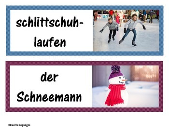 German: Winter Words - Winter Vokabeln