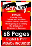 GERMANY BUNDLE Country Study, Culture and Traditions, Oktoberfest, Thanksgiving!