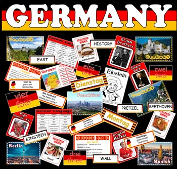 GERMANY TEACHING RESOURCES -GEOGRAPHY GERMAN LANGUAGE CULTURE COUNTRY HISTORY