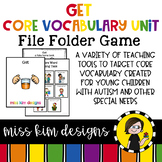 GET Core Vocabulary Unit for Special Education Teachers