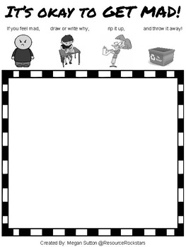 GET MAD! Calming Strategy Worksheet