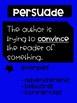 GET PIE-ED Author's Purpose Posters