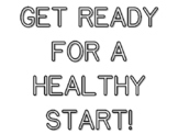 GET READY FOR A HEALTHY START!, Back To School Quote Color