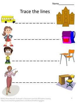Back to School Preschool Kindergarten Math & Literacy Centers Activities