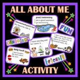 BACK TO SCHOOL -  First Week of School Activity - Get to Know You Activity