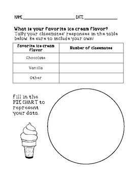 GET-TO-KNOW-YOU GRAPHING - Pie chart, Bar graph & Line graph Worksheets
