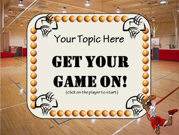 GET YOUR GAME ON! BASKETBALL BINGO TEMPLATE