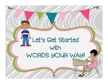 WORDS THEIR WAY -  START UP