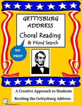GETTYSBURG ADDRESS Choral Reading & Word Search