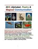 GHI: Alphabet, Poetry & Magical-Mystical Oral Communicatio