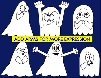 GHOST CLIP ART - MIX AND MATCH
