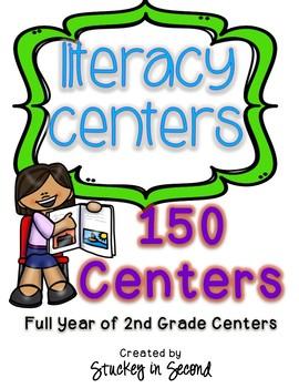 GIANT 2nd Grade Literacy Center BUNDLE (150 Centers!)