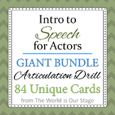 GIANT 84 Articulation Drill Cards Bundle Intro to Speech for Actors