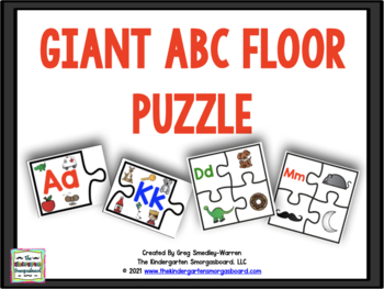 GIANT ABC Floor Puzzle And Beginning Sound Puzzles!
