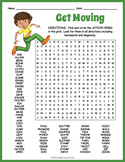 GIANT Action Verbs Word Search