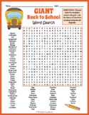 GIANT Back to School Word Search Puzzle