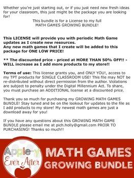 GIANT GROWING MATH GAME BUNDLE!