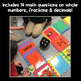 GIANT Game Board Math Review: Whole Numbers, Decimals and Fractions