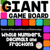 GIANT Game Board Math Review: Whole Numbers, Decimals and