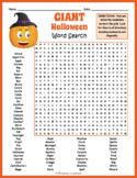 Halloween Worksheet - GIANT Halloween Word Search