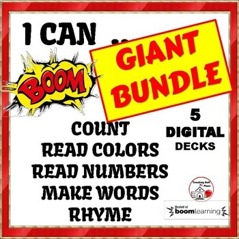 GIANT KINDERGARTEN BUNDLE ... I Can COUNT, READ NUMBERS, COLORS, RHYME